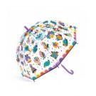 Doorzichtige paraplu met print - Regenboog