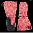 Rode warme wanten met print - mittens funky red
