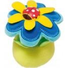 Knijpspeeltje : bloem met lieveheersbeestje (Geboortelijst Lieze M.)