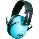 Em's blauwe hoofdtelefoon