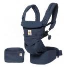 Blauwe ergonomische draagzak Omni 4P  - midnight blue (Geboortelijst Odette J.)
