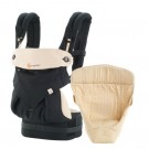 Pakket : ergonomische draagzak 360° black camel verkleiner (Geboortelijst Moon B.)