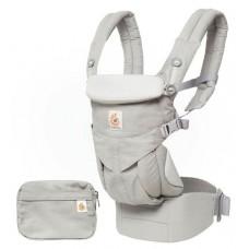 Grijze ergonomische draagzak Omni 4P  pearl grey schijf 1/5 (Geboortelijst Mon V.)