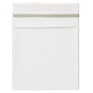 Wit ledikant laken met groene boord- sheet babybed herringbone forest green (Geboortelijst Marie V.)