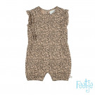 Zomers kruippakje met panterprint - Playsuit panter perfect sand