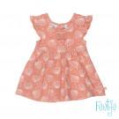 Oudroos kleedje met schelpjes - Jurk shells pink (stapelkorting)