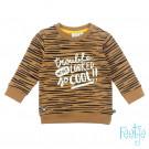 Caramelkleurige gestreepte dierensweater - Sweater born to be wild camel