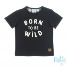Donkergrijze t-shirt born to be wild - T-shirt born to be wild anthracite  (stapelkorting)