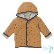 Omkeerbaar camel/grijs jasje met sterretjes - Lucky star