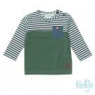 T-shirt kaki en streepjes -army stripes