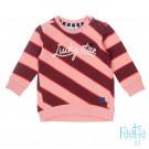 Bordeaux- roze sweater lucky star  (stapelkorting)