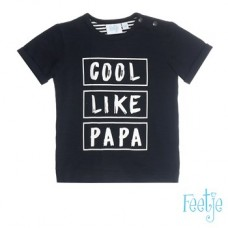 Zwart shirtje - cool like papa (stapelkorting)