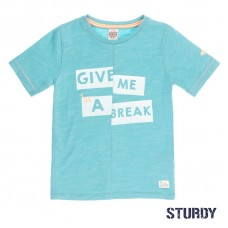 Grijsblauwe t-shirt - give me a break
