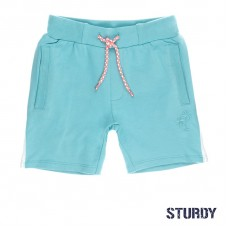 Grijsblauwe jogging short