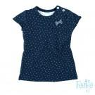 Donkerblauw tuniekkleedje met stipjes - navy dots - maat 62 (Geboortelijst Suus v.H.)