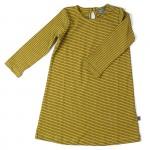 Mosterdgeel kleedje met strepen - dress thea