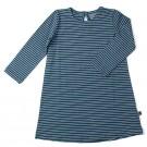 Petrolblauw kleedje met strepen - dress thea ice blue - maat 50-56 (Geboortelijst Marie V.)