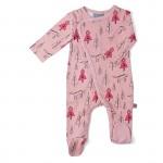 Roze kruippakje met voetjes met rooskapje- redhood jumpsuit with feet