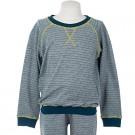 Blauwgroene sweater met reliëf - sweater Illias dots