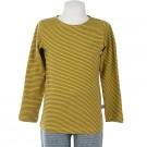 Mosterdgele zachte t-shirt met strepen- mustard stripes Theo