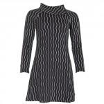 Zwart jacquard kleed met witte zigzag - Rachel zigzag