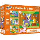 Het bos - 4 puzzels in een box