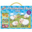 De boerderij - 4 puzzels in een box