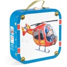 Koffer met 4 puzzels : de reddingshelikopter van Pierre