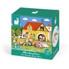 10- delig doosjes met houten figuurtjes : de boerderij