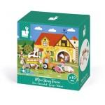 10- delig doosjes met houten figuurtjes : de boerderij (2+1 gratis)