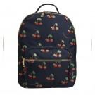 Donkerblauwe rugzak met kersjes - Backpack bobbie love cherries midi