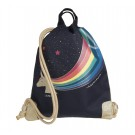 Rug- zwem of turnzak met unicorn - City bag unicorn gold