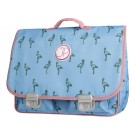 Boekentas met flamingo- schoolbag Paris large flamingo