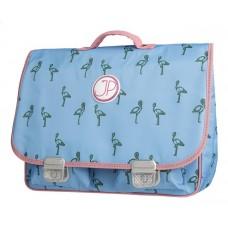 Boekentas met flamingo- schoolbag Paris large flamingo