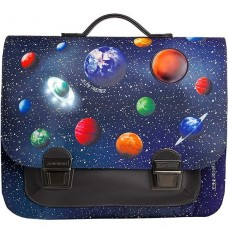 Boekentas met sterrenhemel en planeten midi - It bag midi space + lichtje