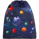 Rug- zwem of turnzak met sterrenhemel en planeten- kidsbag space