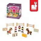 12- delig doosjes met houten figuurtjes van de manege  (2+1 gratis)