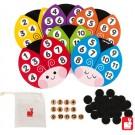 Houten bingo spel lieveheersbeestjes - lottocolor (Geboortelijst Loïc P.)