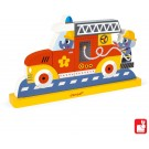 Vertikale 3D puzzel - brandweerwagen