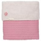 Ledikantdeken Oslo - wafel/ teddy- blush pink - limetid edition