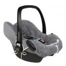 Staalgrijze universele hoes voor draagbare autostoel (Geboortelijst Noé F.V.d.H.)
