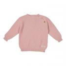 Oud roze gebreid truitje - dusty pink - maat 62-68 (Geboortelijst Franne S.)