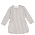 Beige gestreept kleedje - Elwyn dress fawn  - maat 50-56 (Geboortelijst Leonie C.)