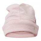 Gestreept licht roze babymutsje - dusty pink