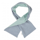 Petrolblauwe gestreepte sjaal - stormy blue