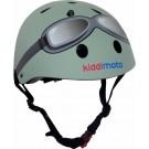 Pastelgroene helm met bril small