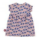 Roze kleedje met blauwe vogels - dress pink/ cobalt birds