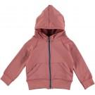 Roze sportieve hoodie - jacket nude french knit - maat 62 (Geboortelijst Nore Deckers)