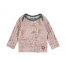 Beige t-shirt met stippen-light greyrede shirt dots - maat 68 (Geboortelijst Nore Deckers)