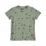 Groene t-shirt met stippen - t-shirt green dots